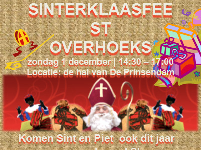 1 december Sinterklaasfeest Overhoeks