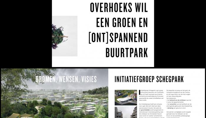 Bewoners willen een groen, [ont]spannend Overhoekspark