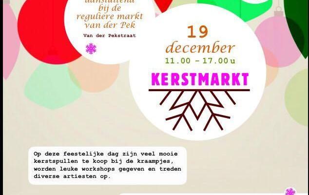 Kom zaterdag naar de Van der Pek Kerstmarkt