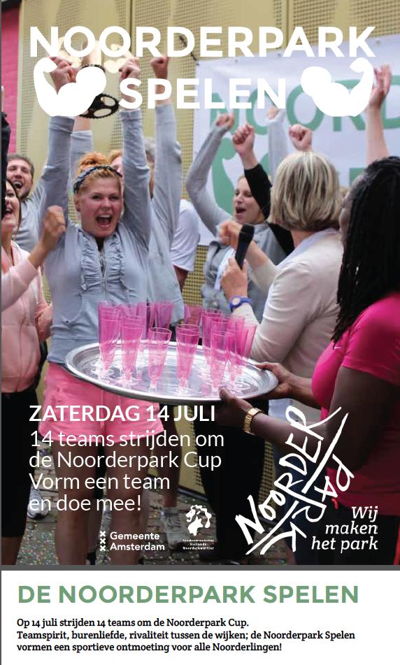 Opgeven Overhoeks team – De Noorderpark Spelen op 14 juli